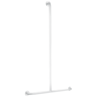 35440W-Basic T-shaped white grab bar