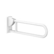 5160N-White anti-bacterial Nylon drop-down rail, L. 650mm