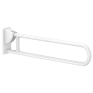5164N-White anti-bacterial Nylon drop-down rail, L. 850mm