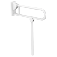 5162N-White anti-bacterial Nylon drop-down rail, L. 650mm, with leg