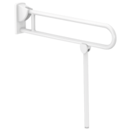 5170N-White Nylon drop-down rail with leg, Ø 32mm, L. 850mm