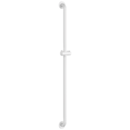 5460N-Riser rail with shower head holder in anti-bacterial white Nylon