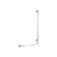 5070N-White L-shaped anti-bacterial Nylon shower grab bar, H. 750mm