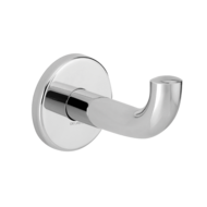 4047P-Bright polished stainless steel coat hook, long model