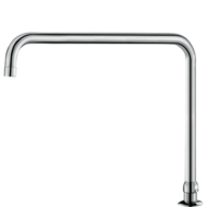 1306T3-Deck-mounted, swivelling, tubular spout H. 260mm L. 300mm