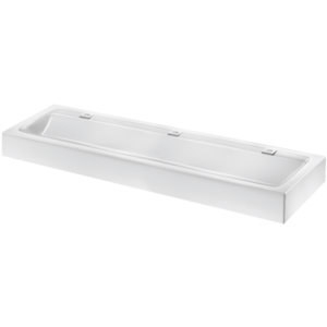 Wall-mounted MINERALCAST wash trough