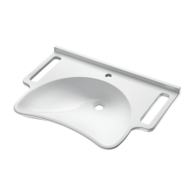 Wall mounted MINERALCAST PMR washbasin