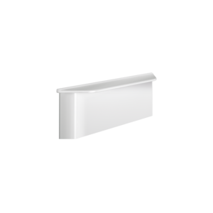 Wall-mounted shelf for showers to conceal fixings