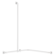 35481W-Basic two-wall shower grab bar with sliding vertical bar, white