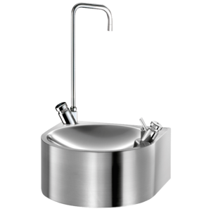 SD drinking fountain with swan neck tap