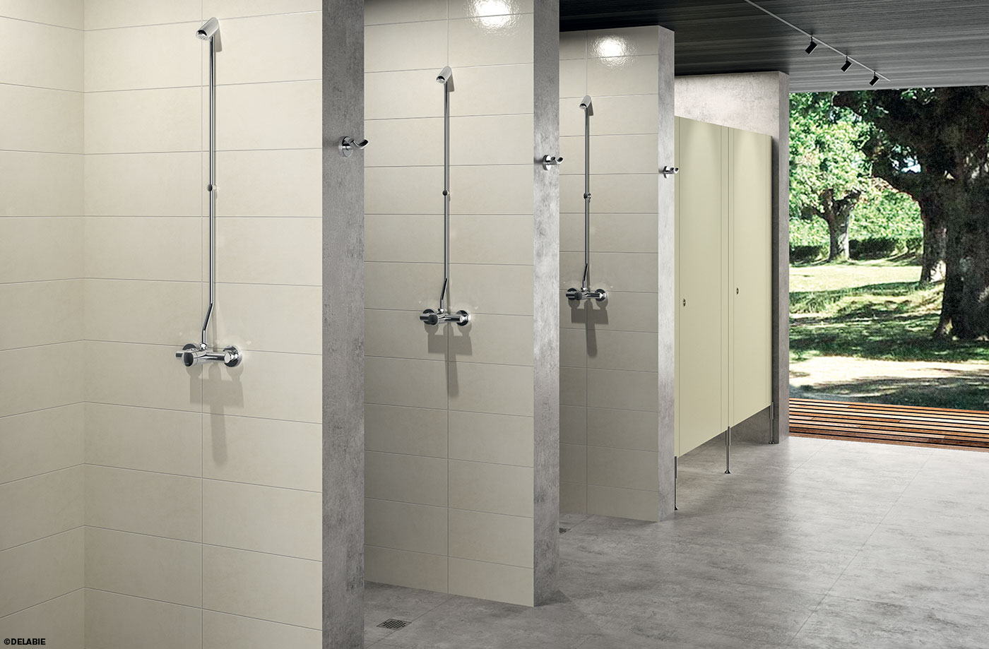 Shower area camp sites