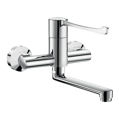 Sequential wall-mounted mechanical mixer