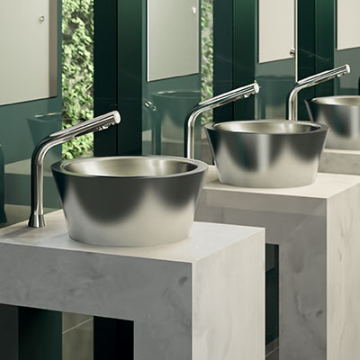 ALGUI stainless steel countertop washbasin