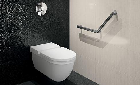A complete range of design-led grab bars and shower seats