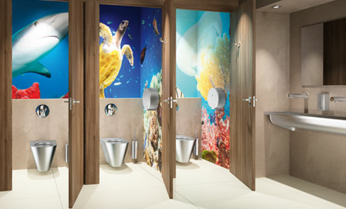 Do public and commercial washrooms need specific hygienic accessories?